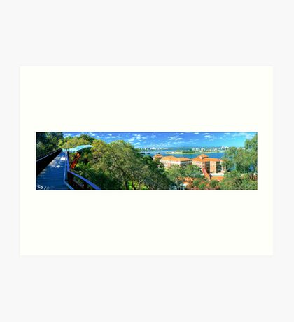 The Swan river from Kings Park  Art Print