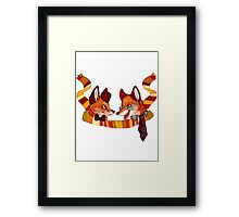 Fandom Foxes - Who? Framed Print