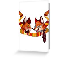 Fandom Foxes - Who? Greeting Card