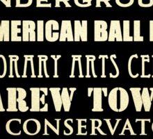 Cincinnati Ohio Famous Landmarks Sticker