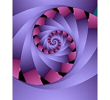 Swirl in pink and purple Photographic Print