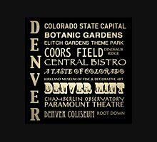Denver Colorado Famous Landmarks Unisex T-Shirt