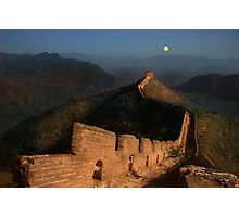 Moonrise over the Great Wall Photographic Print