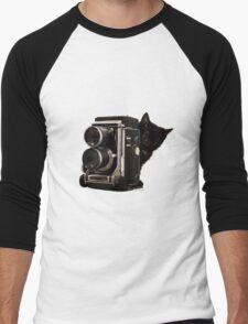 Feline Photographer Men's Baseball ¾ T-Shirt