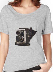 Feline Photographer Women's Relaxed Fit T-Shirt