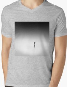 monochrome Mens V-Neck T-Shirt
