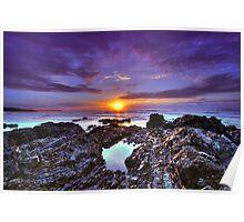Emerald Beach Sunrise 2 Poster