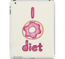I Donut Diet - cute food illustration iPad Case/Skin