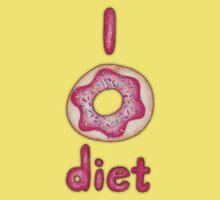 I Donut Diet - cute food illustration Kids Clothes