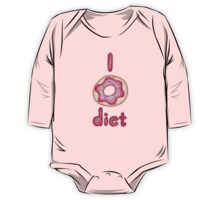 I Donut Diet - cute food illustration One Piece - Long Sleeve