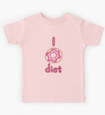 I Donut Diet - cute food illustration Kids Tee