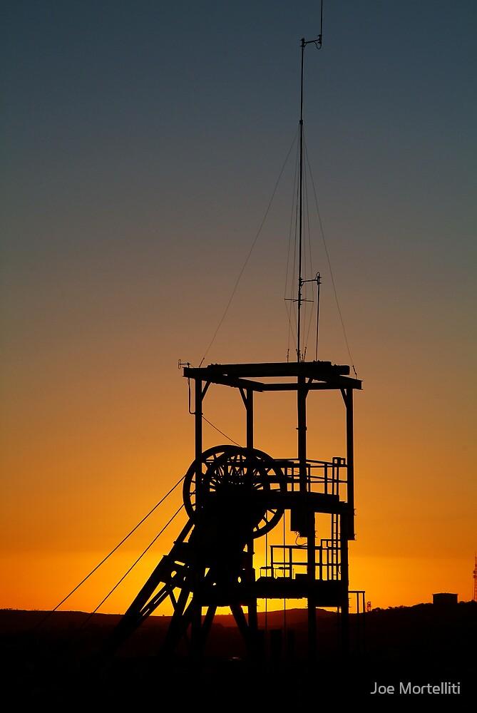 Poppet Head Sunset Broken Hill by Joe Mortelliti