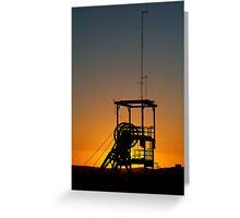 Poppet Head Sunset Broken Hill Greeting Card