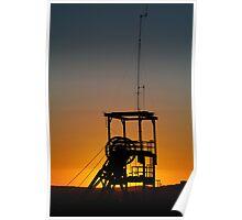 Poppet Head Sunset Broken Hill Poster