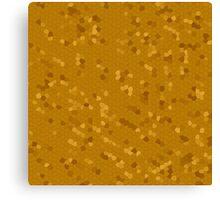 Dark Golden Mosaic Canvas Print