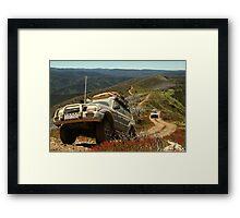 Mountain Driving, Blue Rag Range Framed Print