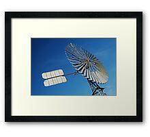 Big Outback Windmill, Boulia,Qld Framed Print