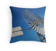 Big Outback Windmill, Boulia,Qld Throw Pillow