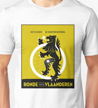 BICYCLES; Ronde Van Vlaanderen Advertising Print Unisex T-Shirt