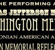 Washington DC Famous Landmarks Sticker