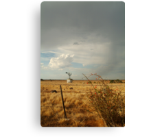 Passing Rain,Geelong District Canvas Print