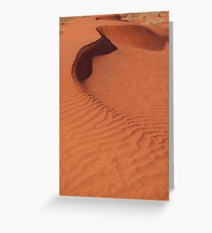 Sand Hill, Simpson Desert,N.T. Greeting Card