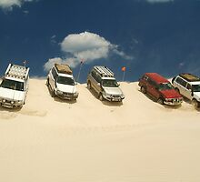 Dune Drivers,Robe Beach District South Australia by Joe Mortelliti