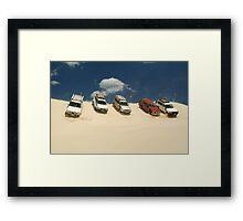 Dune Drivers,Robe Beach District South Australia Framed Print