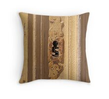 Yellow Keyhole: Mdina Malta, Throw Pillow