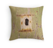 Square Keyhole: Mdina Malta Throw Pillow