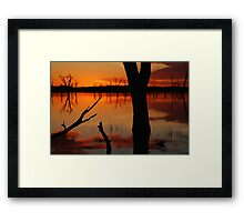 Red Reflections, Lake Fyans Grampians Framed Print