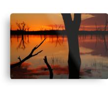 Red Reflections, Lake Fyans Grampians Metal Print