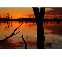 Red Reflections, Lake Fyans Grampians Photographic Print