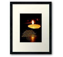 ATTEND TO YOUR PASSION Framed Print