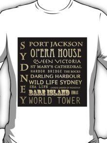 Sydney Australia Famous Landmarks T-Shirt