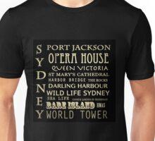Sydney Australia Famous Landmarks Unisex T-Shirt