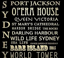 Sydney Australia Famous Landmarks by Patricia Lintner