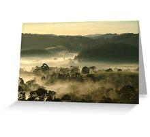 Valley Fog,Dollar, Gippsland Greeting Card