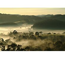 Valley Fog,Dollar, Gippsland Photographic Print