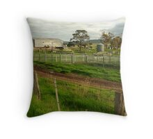 Dairy Farm,Rowsley Throw Pillow