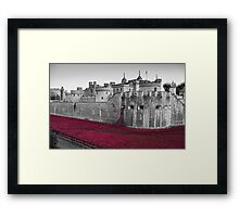 Blood Swept Lands And Seas of Red Framed Print