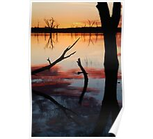 Lake Fyans Sunrise Poster
