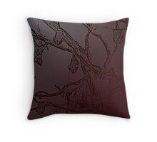 BATS IN RED Throw Pillow