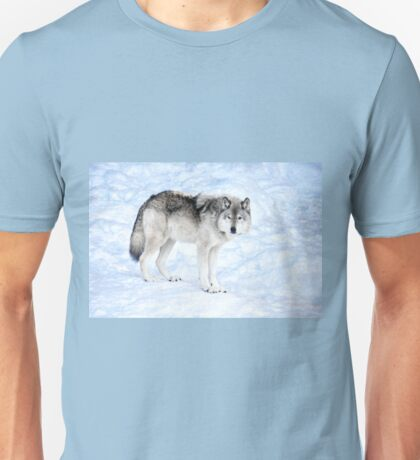 Oldest Wolf in the Pack_Timber Wolf Unisex T-Shirt