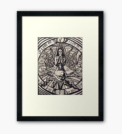 Follow your own compass Framed Print