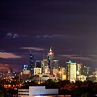 Perth city on a hot summers night by BigAndRed