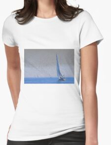 Sail Boat, four in total Womens Fitted T-Shirt