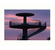 Lookout Tower Geelong Art Print