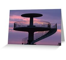Lookout Tower Geelong Greeting Card