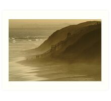 Walk the Dogs 13th Beach Art Print